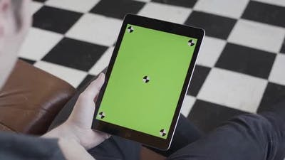 Tablet with chroma key