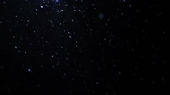 Thumbnail for Snowflakes Falling At The Winter Night Background