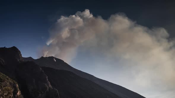 Thumbnail for volcano sicily stromboli lava active italy mountain explosive smoke
