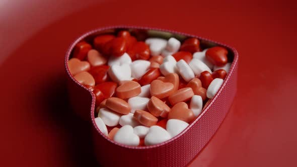 Thumbnail for Rotating stock footage shot of Valentine's Day candy