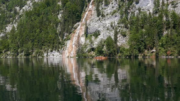 Waterfall on Toplitzsee, Austria