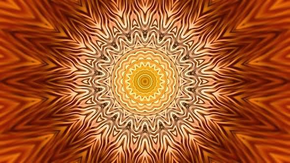 Gold Mandala Abstract Background