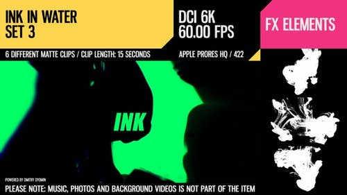 Ink In Water (6K Set 3)