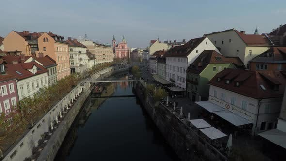 Thumbnail for High angle view of Ljubljanica River