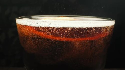 Carbonated Drink. Close-up.