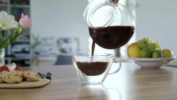Thumbnail for Pouring Coffee In To Cup