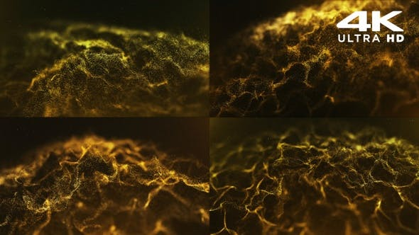 Thumbnail for Abstract Gold Particles