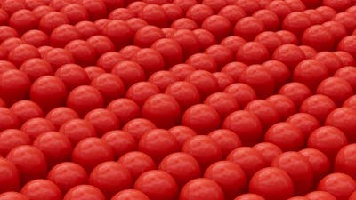 3D Red Capsules Animation Background
