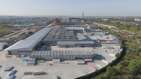 Thumbnail for Aerial view of a window factory