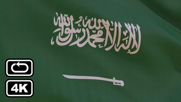 Thumbnail for Saudi Arabia Flag 4K Seamless Loop