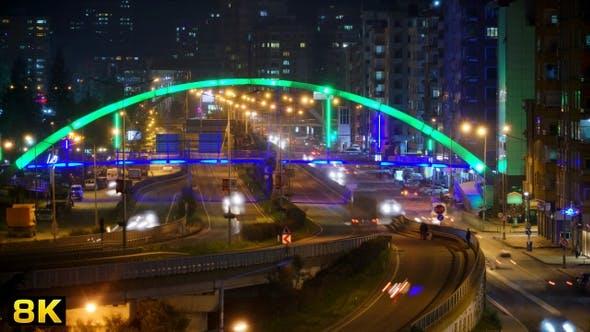 Illuminated Pedestrian Overpass