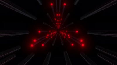 4k Red Colored Triangular Light Tunnel