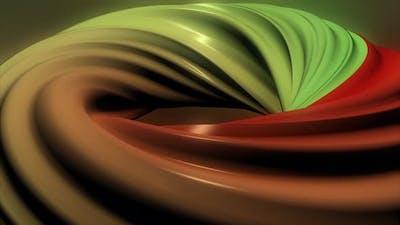 Hypnotic 3D spiral, optical illusion