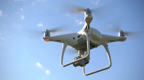 Drone Hovering in the Air