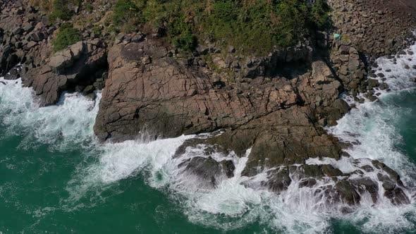 Thumbnail for Drohne fliegen über Meer Küste
