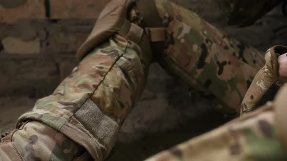 Thumbnail for Cigarette in Army Soldiers' Trembling Hands