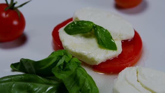 Thumbnail for Caprese Salad On A White Plate 09b