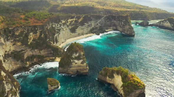 Thumbnail for Breathtaking Drone Shot of Thousand Islands at Nusa Penida, Bali - Indonesia. Aerial View