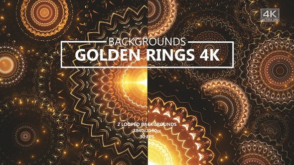 Thumbnail for Golden Glitter Rings