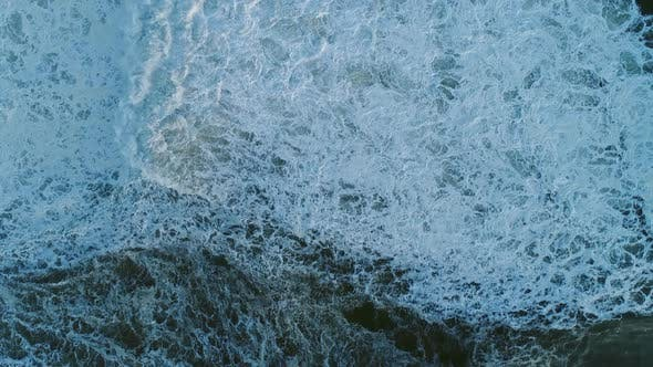Thumbnail for Aerial Top View on Big Waves of Atlantic Ocean
