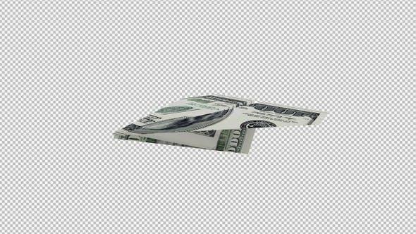 Paper Plane - 100 USD Bill - 4K Flying Transition III