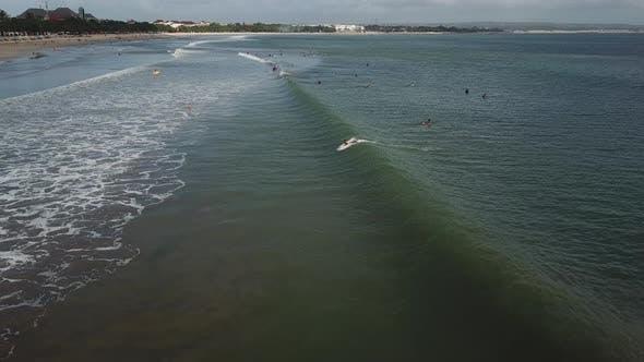 Beginner Surfers on the Beach