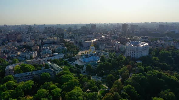 Thumbnail for Aerial View of Mikhailovsky Cathedral Monastery Kyiv, Ukraine