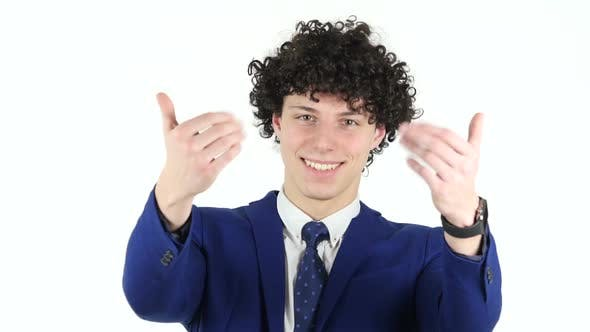 Thumbnail for Inviting Gesture by Young Businessman