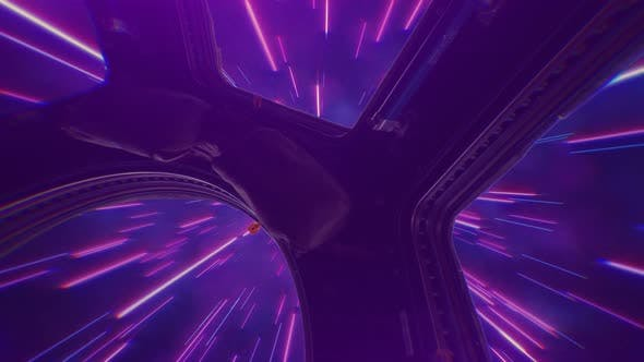Thumbnail for Abstract Retro Hyper Jump in Outer Space on a Spaceship