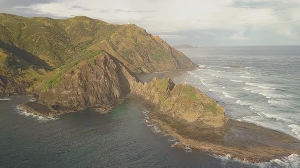 New Zealand coastline aerial