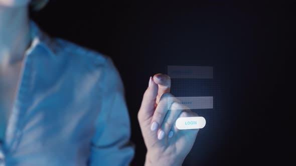 Thumbnail for Woman Using Fingerprint Scanner