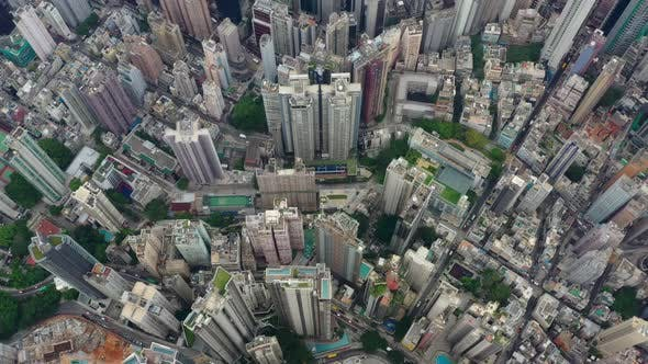 Thumbnail for Top down view of Hong Kong city