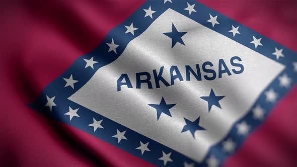 Arkansas State Flag Angle