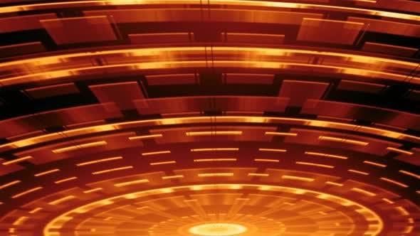 Elegant Spinning Waves  Red 01