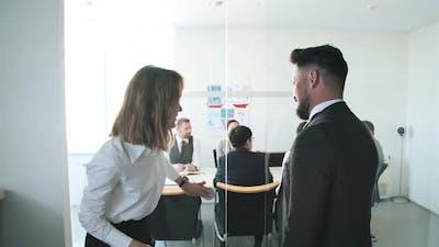 Opening Door For Boss