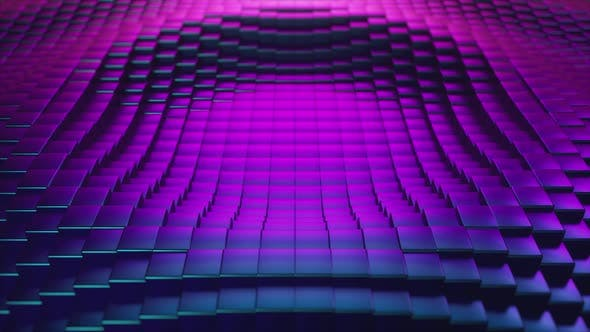 Thumbnail for Abstract Ultraviolet Cubic Surface in Motion