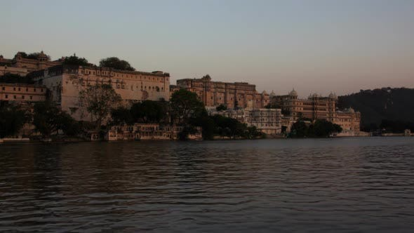 Thumbnail for Palace on Lake in Udaipur, India, Timelapse