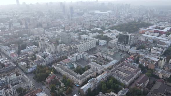 Thumbnail for Cityscape of Kyiv, Ukraine. Aerial View, Slow Motion