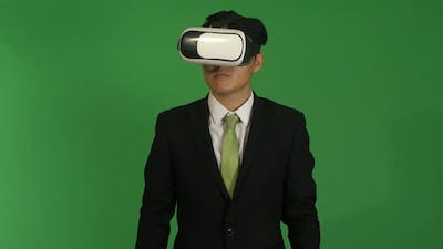 Businessman In Virtual Reality
