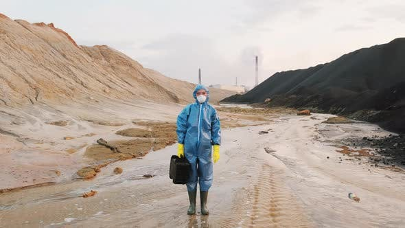 Thumbnail for Portrait Of Ecology Expert In Protective Suit