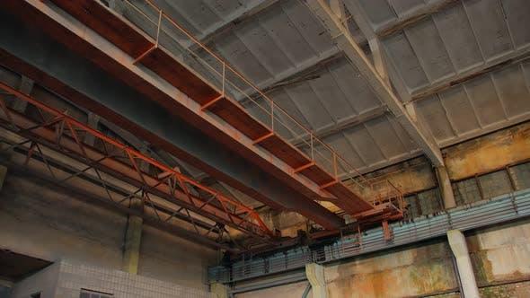 Old Industrial Warehouse Crane