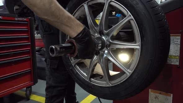 Thumbnail for Mechanic Servicing a Car