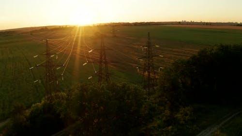 Sunset Power Lines