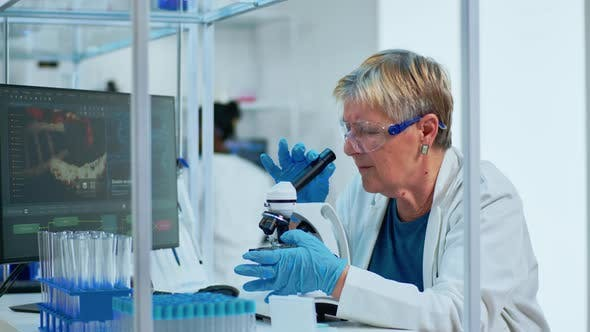 Thumbnail for Elderly Biotechnology Scientist Researching in the Laboratory