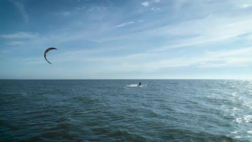 Kitesurfing In Ocean
