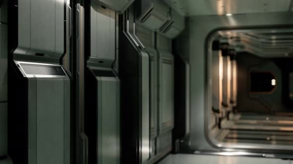 Thumbnail for Clean Sterile Futuristic Science Fiction Interior of a Laboratory or Spaceship