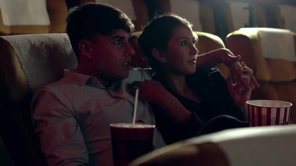 People Audience Watching Movie in Cinema Theater