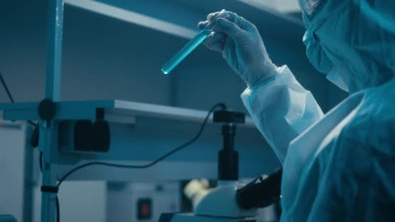 Thumbnail for Scientist Examining Sample in Laboratory