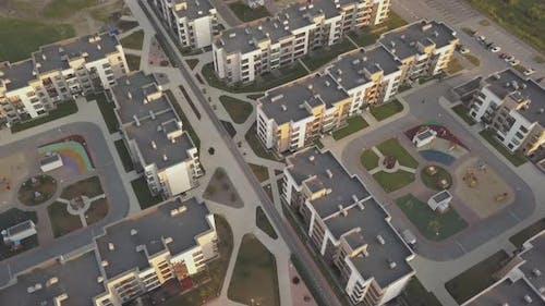 New Modern Neighbourhood of Residential Apartments in Summer