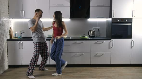 Thumbnail for Happy Couple Dancing To Music in the Morning